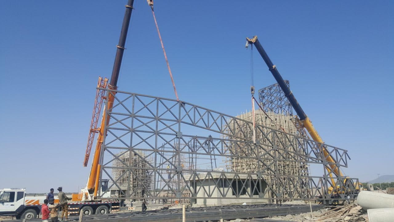 BULBULA AGRO INDUSTRIAL PARKS PROJECT, CONSTRUCTION OF STEEL STRUCTURE FOR MAIN GATE